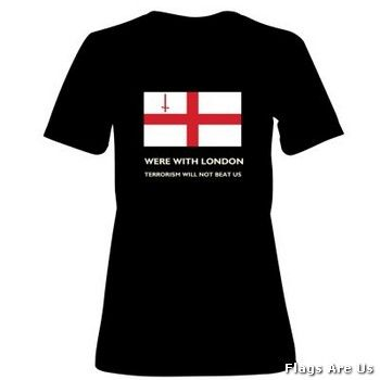 London Victims Woman's T-Shirt  (Black)